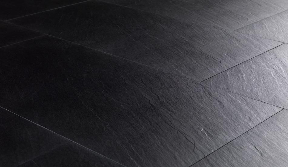 Pavimenti cucina ardesia pietra naturale impermeabile nera - Ardesia in cucina ...