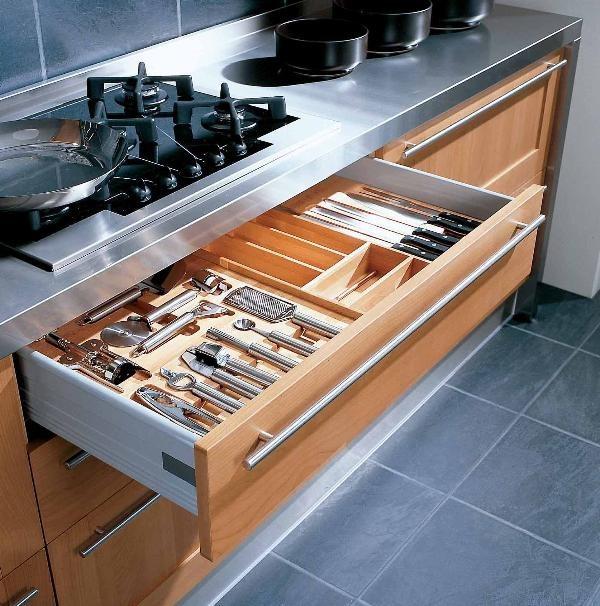 Porta posate cucina vasche contenitive plastica legno - Porta posate da cassetto ...