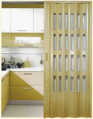Porte a soffietto cucina plastica legno inserti vetro - Porte a soffietto colorate ...